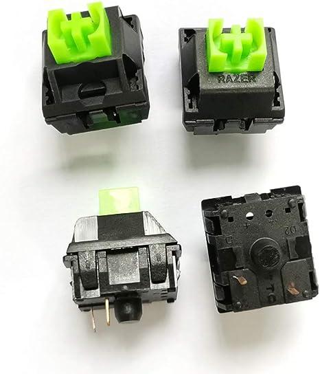aoixbcuroc interruptor de teclado, 4 piezas 3 pines Razer ...