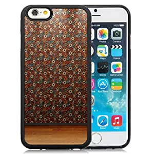 Fashion Custom Designed Cover Case For iPhone 6 4.7 Inch TPU Phone Case With Dots Wallpaper Wood Flooring_Black Phone Case