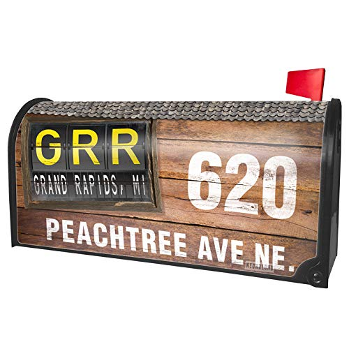 NEONBLOND Custom Mailbox Cover GRR Airport Code for Grand Rapids, MI]()