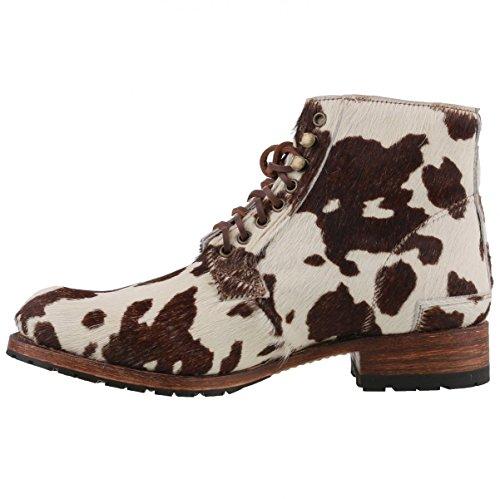 Sendra bottes homme cuir de vache-blanc/marron