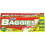 Hefty Baggies Storage Bags, Sandwich, 150 Count