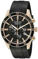 Claude Bernard Men's 10223 37RNCA NIR Aquarider Analog Display Swiss Quartz Black Watch