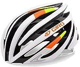 Cheap Giro Aeon Road Helmet (Matte White Lime/Flame, Medium)