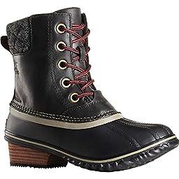 Sorel Womens Slimpack II Lace Boot Black/Kettle Size 8.5
