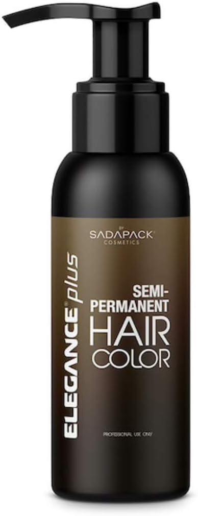Elegance semipermanente Hair Color (barba y cabello), coloración sin amoniaco y peróxido