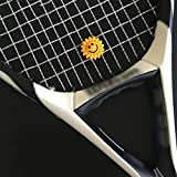 MONOMONO-3PCS Cute Sunflower Tennis Racquet Vibration Dampener Shock Absorber Tool