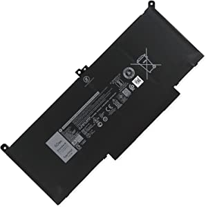 DELL F3YGT Laptop Battery for Dell Latitude 12 7000 7280 7480 7290 7380 7390 7480 7490 Latitude E7280 E7290 E7380 E7390 E7480 E7490 Series DM3WC 0DM3WC 2X39G Notebook Battery 7.6V 60Wh 4cells