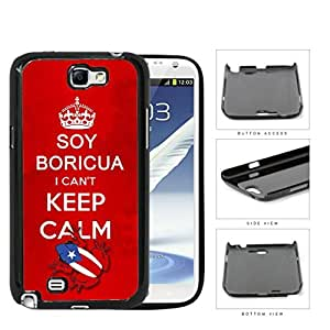 Soy Boricua I Can't Keep Calm Hard Plastic Snap On Cell Phone Case Samsung Galaxy Note 2 II N7100