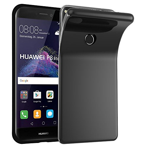 Cadorabo �?>                          Huawei ASCEND P8 LITE (Modelo 2017)                          < Cubierta protectora de silicona TPU en diseño AIR �?Case Cover Funda Carcasa Protección en NEGRO NEGRO