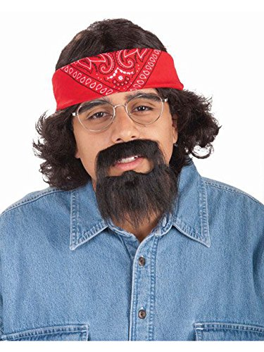 Forum Novelties Men's Chong Costume Kit with Bandana Wig and Beard, Multi, One Size]()