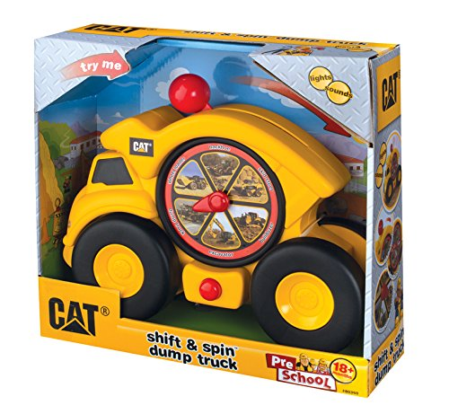 Toysmith Caterpillar Shift and Spin Dump Truck-Cat