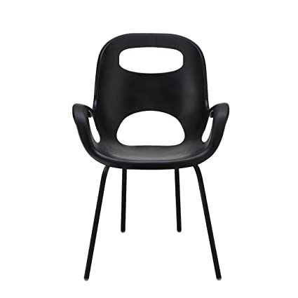 Umbra Oh Chair, Comfortable Seating Indoors And Outdoors, Weather Resistant  Matte Black