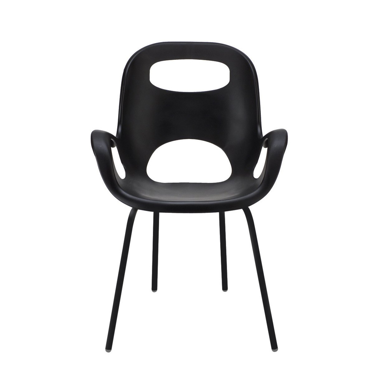 Umbra Oh Chair, Comfortable Seating Indoors and Outdoors, Weather-Resistant Matte Black