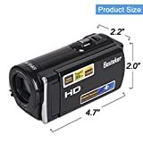 Camera Camcorders, Besteker Portable Video Camcorder 1080P 20MP HDMI Output 3.0'' TFT LCD Screen 16X Digital Zoom Camera Recorder (HDV-601S, Black)
