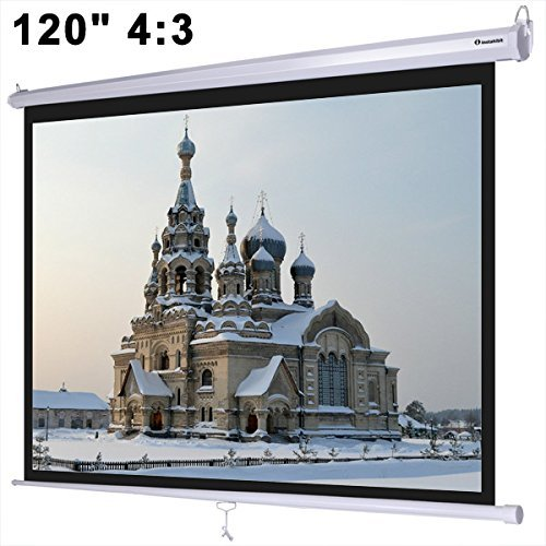 KOVAL INC.- Instahibit 120'' 4:3 Manual Pull Down Ceiling Projector Screen