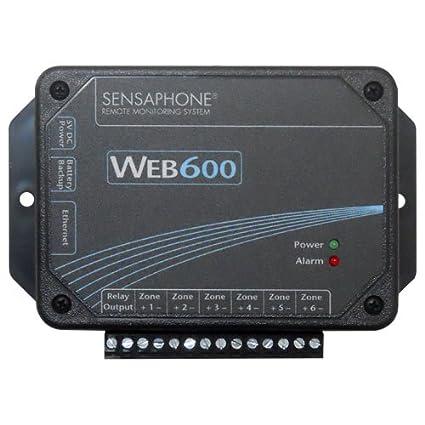 Sensaphone Web600 Web-Monitor Alarm, No Land Line Needed