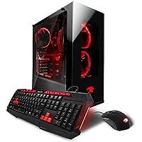 iBUYPOWER Gaming Computer Desktop PC AM807Wa AMD Ryzen 5 1600X 6-Core 3.6 GHz, NVIDIA Geforce GTX 1060 3GB, 16GB DDR4 RAM, 1TB HDD, 120GB SSD, WiFi, VR Ready, Win 10