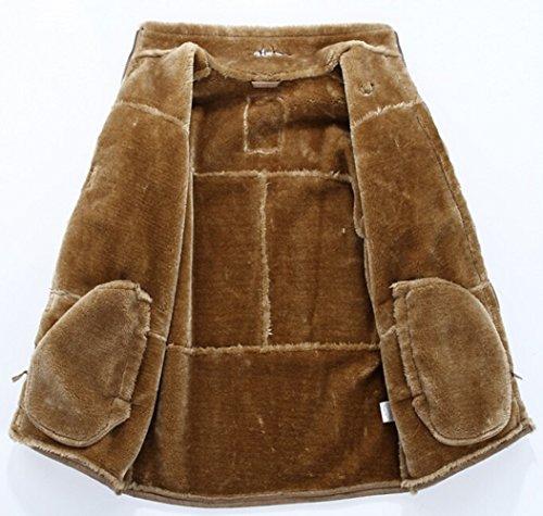 Winter Stand Men's Lined Luxury KPM1 Fur Bomber Fur Parka Collar Coat Jacket Faux Fur Suede moxishop Flying Hunting Khaki Fully ZxA4xw