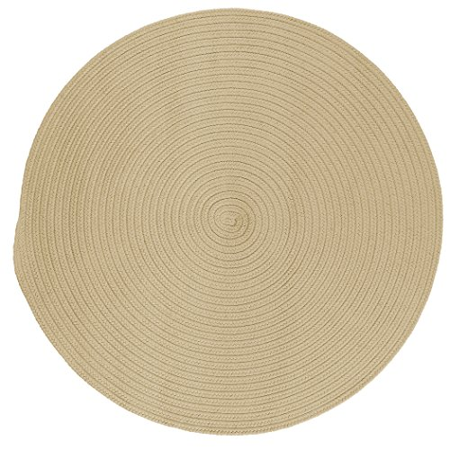 Boca Raton Polypropylene Braided Round Rug, 6-Feet, (Boca Raton Linen)