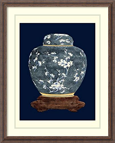 Framed Art Print 'Blue & White Ginger Jar II' by Vision Studio White Ginger Matted Print