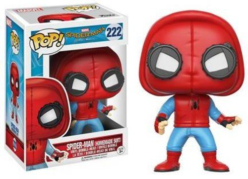 Funko - Spider-Man (Homemade Suit) figura de vinilo, coleccion de POP, seria Spider-Man Homecoming (13315)
