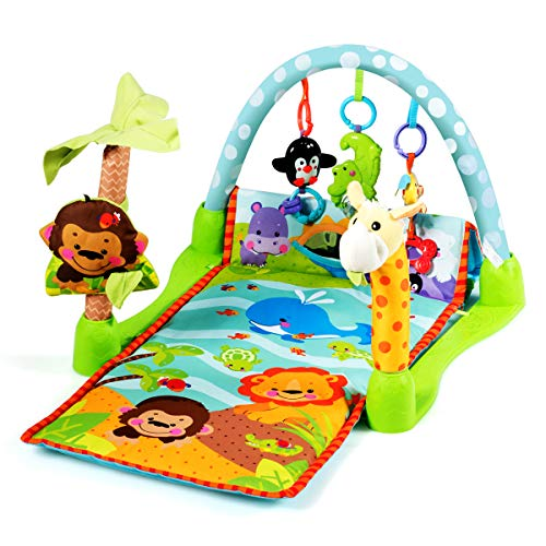 Buy Discount BABY JOY 4-in-1 Baby Play Gym Mat, Baby Explore Activity Center with Steady Frame and 3...