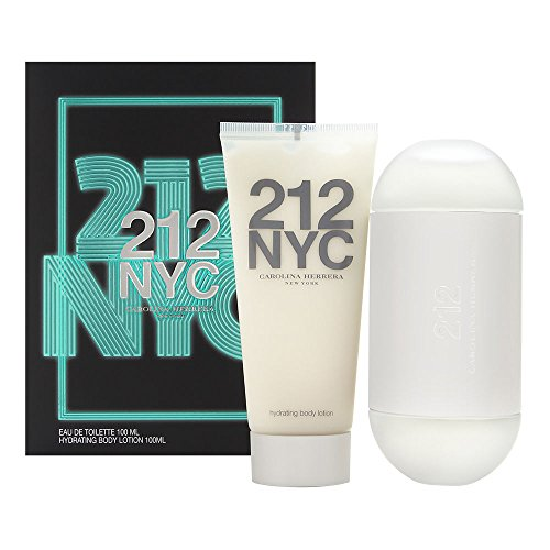 212 NYC by Carolina Herrera for Women 2 Piece Set Includes: 3.4 oz Eau de Toilette Spray + 3.4 oz Hydrating Body Lotion