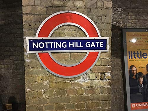 Home Comforts Canvas Print Notting Hill Tube Underground London Vivid Imagery Stretched Canvas 32 x 24