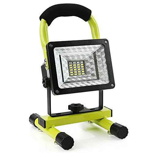 LED Work Light with Magnetic Stand 15W 24 LED Rechargeable Shop Light Portable Outdoor Camping Spotlights with Dual USB Port and Emergency SOS Mode by Hallomall