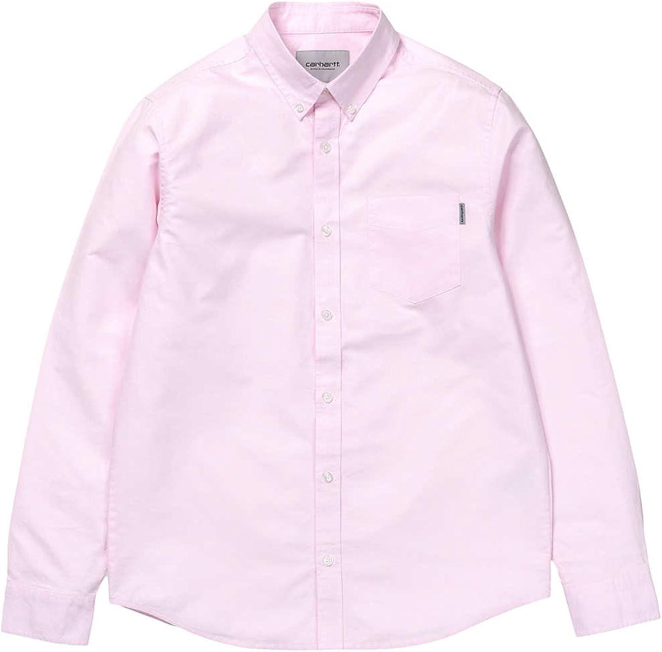 Carhartt WIP Hombre Botón de ajuste delgado abajo bolsillo de la camisa, Rosado, X-Large: Amazon.es: Ropa y accesorios