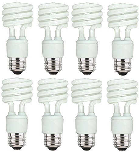 - Dysmio Lighting - 13 Watt Mini-Twist CFL Light Bulb 2700K Warm White E26 (Medium) Base - 8 Pack