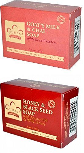 Wholesale Goats Milk Soap - Nubian Heritage Honey & Black Seed + Goat's Milk & Chai Soap Combo.. 5 oz.. (2 Pack).. HPVagr