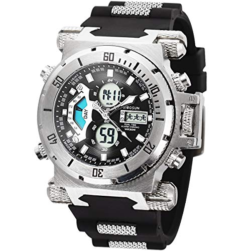Mens Digital Sports Watch,Waterproof Sports Military Wrist Watch Multifunction Alarm LED Stopwatch Casual Designer…