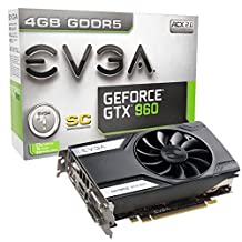 EVGA GeForce GTX 960 4GB SC GAMING, Only 6.8 inches, Perfect for mITX Build Graphics Card 04G-P4-1962-KR