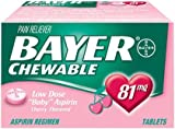Bayer Chewable Low Dose Aspirin Tablets 81 mg-Cherry-36 ct. (Pack of 6)