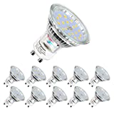 GU10 LED Light Bulbs,MR16 5W(Replacement for 60W Halogen Spot), 600lm, Cool White, 6000K, 120° Beam Angle, Recessed Lighting, Track Lighting(10Pack Spot Light+6000K)