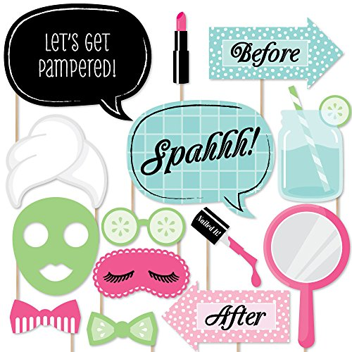 (Big Dot of Happiness Spa Day - Photo Booth Props Kit - 20)