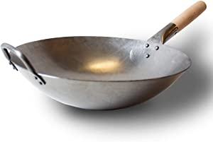 Carbon Steel Hand Hammered Wok (Carbon Steel)