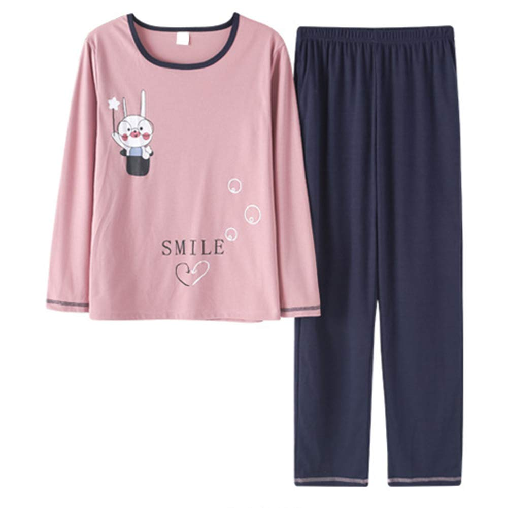 Big Girls Casual Comfy Cute Pig Print Pajamas Set 100/% Cotton Sleepwear Long Sleeve Nighty Big Girls Medium//12, Pig