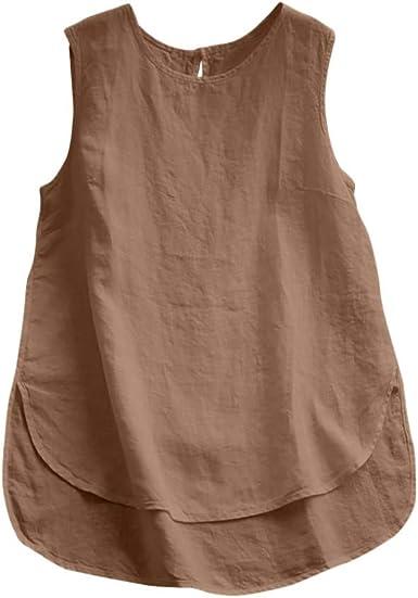 Camisas De Mujer Tops Vintage De Algod/ón De Lino De Manga Larga De Verano Casual Camisa De Talla Grande