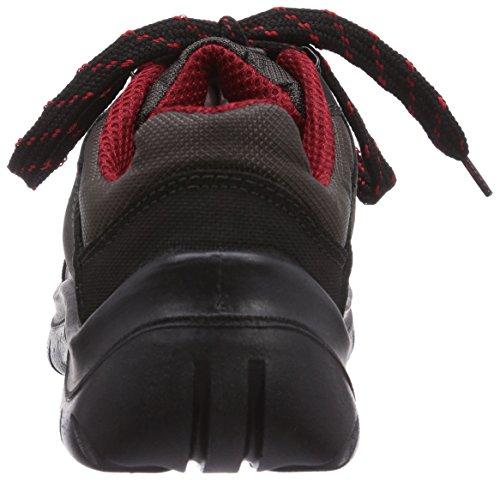 MTS Sicherheitsschuhe   Monaco S2 7152, Chaussures de sécurité mixte adulte, Noir (schwarz/rot), Taille 43