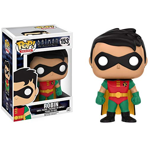 Funko Robin: Batman The Animated Series x POP! Heroes Vinyl Figure & 1 POP! Compatible PET Plastic Graphical Protector Bundle [#153 / 11571 - B] ()