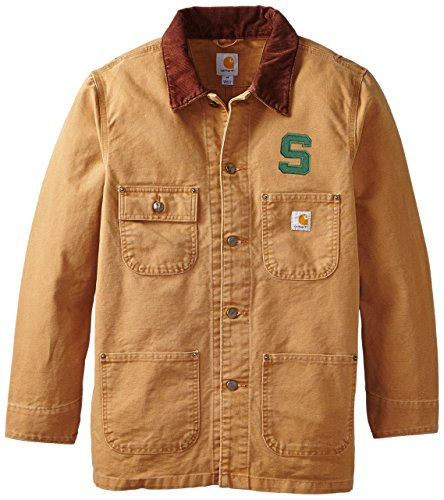 NCAA Michigan State Spartans Men's Weathered Chore Coat, Large ()
