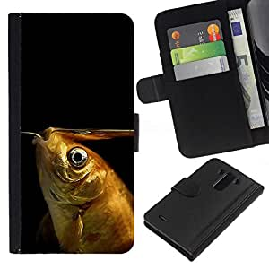 All Phone Most Case / Oferta Especial Cáscara Funda de cuero Monedero Cubierta de proteccion Caso / Wallet Case for LG G3 // Funny Goldfish