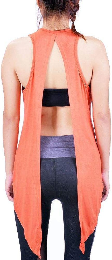 Lofbaz Womens Open Back Yoga Shirt Tie Back Workout Clothes Racerback Tank Tops
