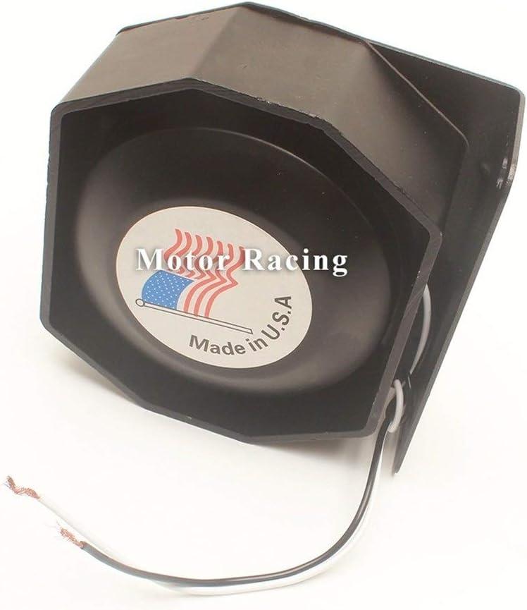 Clacson auto Nero universale eccellente moderna Minimalista Moda forte allarme 200W Train Car metallo 12V Attenzione Elettronica Horn Megafono impermeabile Altoparlante Police Siren clacson moto
