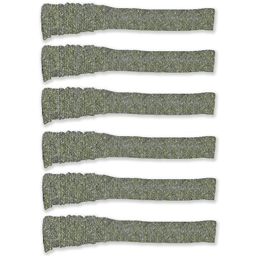 (Carolina Ultimate Silicone Treated Knit Gun Sock Cover 47 inches (6-Pack, Green/Grey) )