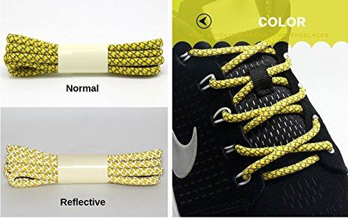 ø 100 Corsa Da Canvas Riflettente 4 Sneaker Luminosità Lacci Tennis Stringhe Corde Santimon Alta Atletico Scarpe Mm lunghezza Basket nRU6fw1x1