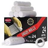 Gauze Bandage Roll with Medical Tape - Gauze Roll - Rolled Gauze - Set of 24