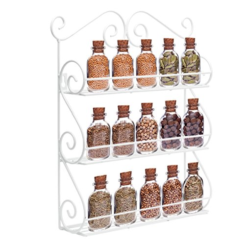 Decorative Wall Mounted 3 Tier Wall Hanging Kitchen Spice Ra